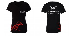 T-Shirt Official TSUNAMI NUTRITION Donna