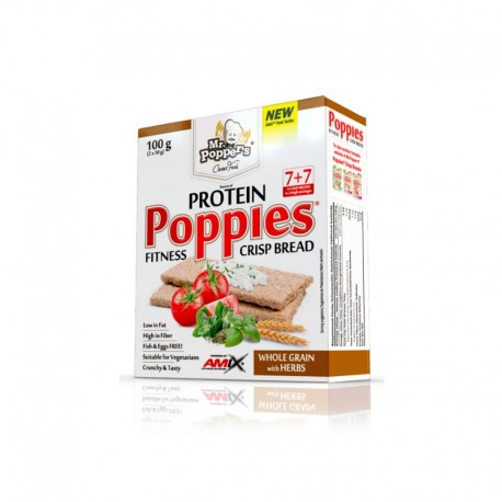 Protein Poppies Crisp Bread