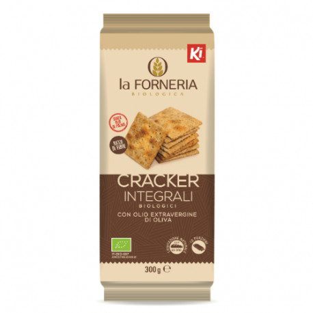CRACKER INTEGRALI BIOLOGICI CON OLIO EXTRA 300 g