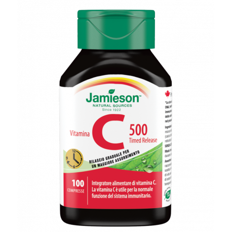 Vitamina C 500 timed release 100 cpr