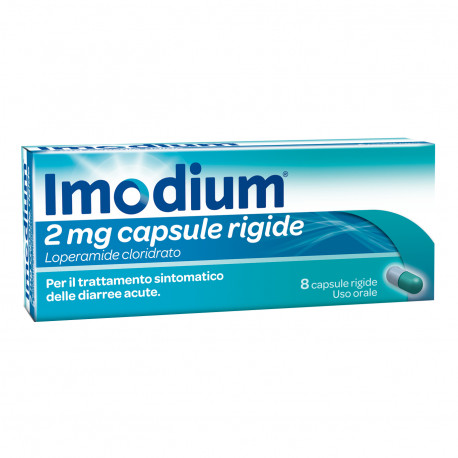 IMODIUM 2mg 8 capsule rigide