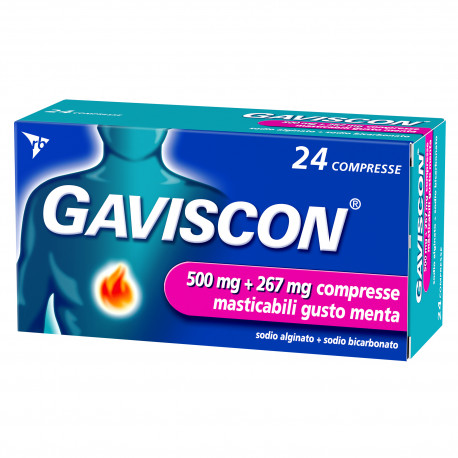 GAVISCON 24 COMPRESSE 500 mg