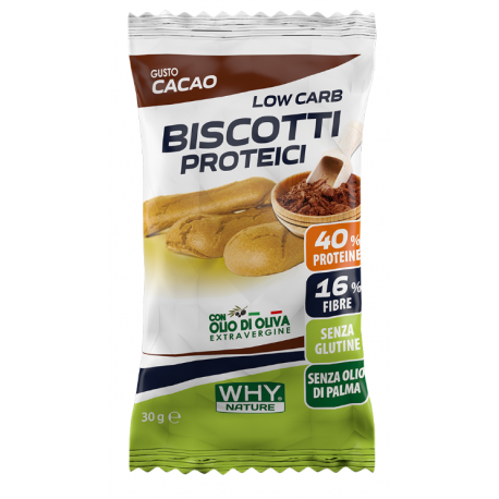 WHY NATURE BISCOTTI PROTEICI LOW CARB 30 g