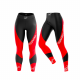 "Leggings Woman ""Curve"" BLACK AND RED"