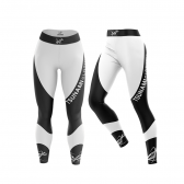 "Leggings Woman ""Curve"" BLACK AND WHITE"